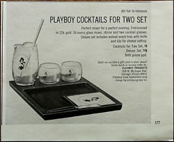 Playboy Cocktail For Two Set Stir Her To Romance Vintage Advertisement 1965 $5.22