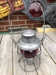 Southern Railway Lantern Marked Red Globe and Lid Very Clean $169.95