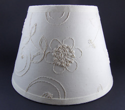 Waverly Candlewicking Candlewick Classic White Fabric Lampshade Lamp Shade $24.99