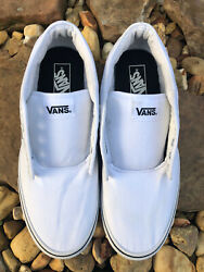 Vans Off The Wall White Canvas Lace Up Sneaker men#x27;s size 12 US $36.88