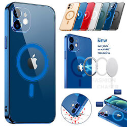Magnetic Clear Phone Case Mag Safe Cover For Apple iPhone 12 Pro Max 12 Mini 12 $11.87