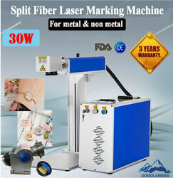 US 30W Split Fiber Laser Marking Machine Laser Metal Engraver with Rotary Axis $4087.35