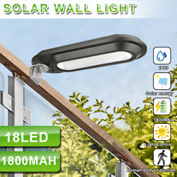 18 LED Solar Street Light IP65 Waterproof Dusk to Dawn Outdoor Commercial Lamp