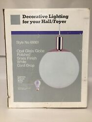 "Vtg Opal 12"" Angelo Hanging Decorative Lighting For Hallway NIB Never Installed"