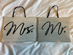Mr amp; Mrs Wooden Signs $11.00