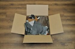 10 lb Box Mixed Colors Cowhide Remnants Scrap Leather Pieces Free Shipping $24.99