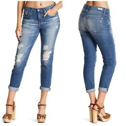 Buckle Big Star Womens Billie Slim Boyfriend Jeans Denim Crop Ankle Sz 27x27 $35.00