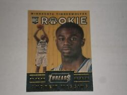 2014 15 PANINI THREADS ANDREW WIGGINS RC WOOD ROOKIE CARD #343. TIMBERWOLVES $10.00