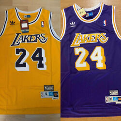 Men#x27;s Youth Kobe Bryant #24 Los Angeles Lakers Stitched Purple Yellow Jersey $29.99