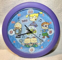 1999 Viacom Nickelodeon Rugrats Talking Clock Tested 12 Different Sayings $19.99