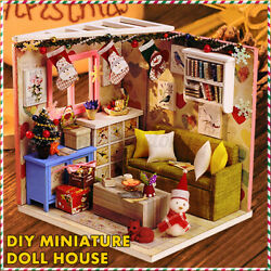 DIY Mini Doll House Miniature Furniture Wooden Dollhouse Toys Gift Decoration US $18.98