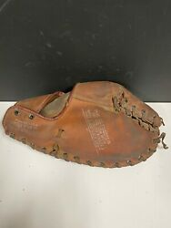 Vintage Wilson Spalding glove left hand throw first base mitt trapper model $39.00