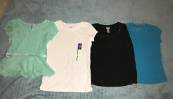 Lot Of 4 Size 10 12 Shirts Justice Cherokee And More $12.00