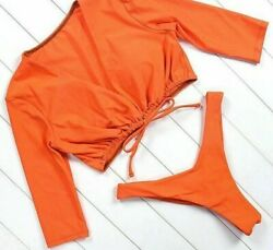 Swimming Bathing Suit Bikinis For Ladies Solid Patterned Wire Free New Beachwear $30.99