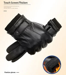Gloves Leather Sheepskin Genuine S Winter Shearling Fur Warm Touch Screen Finger $17.80