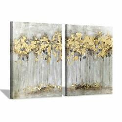 Fall Tree Canvas Picture Artwork Abstract Forest Wall Art Painting on Canvas ... $109.90