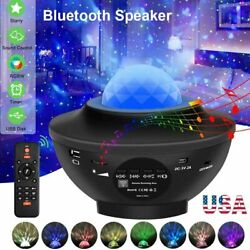 Bluetooth LED Galaxy Starry Night Light Projector Speaker Ocean Star Sky Party $27.99