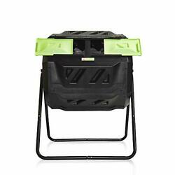 Large Compost Tumbler Bin Outdoor Garden Rotating Dual Compartment Better Air $122.28