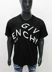 Givenchy RRP 560 € refracted design logo embroidered T shirt Size S M L XL 2XL $149.00