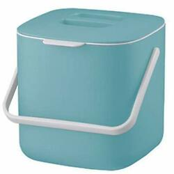 Compost Bin Indoor Kitchen Sealed 2.6L Countertop Compost Bin With Light Blue $25.05