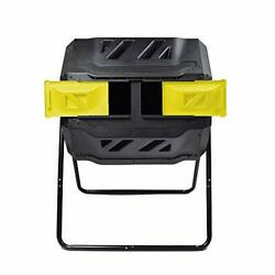 Large Composting Tumbler Dual Rotating Outdoor Garden Compost Bin BPA Yellow $126.91