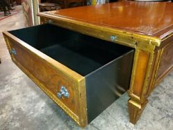 THEODORE ALEXANDER LARGE COFFEE TABLE – PAINTED W 2 LARGE DRAWERS – BEAUTIFUL $3485.00
