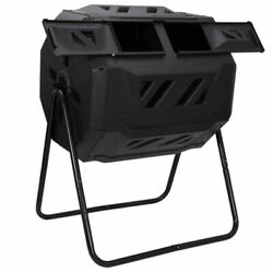 Chambers Composting Tumbler 43 Gallon Dual Outdoor Gardening Large Compost Bin $63.35