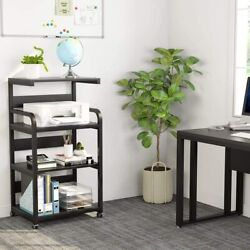 Tribesigns 4 Shelf Mobile Printer Stand Modern Printer Cart Desk Machine Stand $85.99