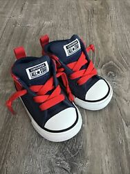 Authentic Converse All Star Toddler Athletic Shoes Size 5 Red Blue White $19.99