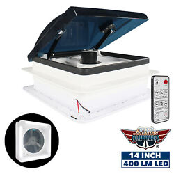 Powered RV Roof Vent Fan With Remote Multi Speed Rain Sensor and LED 12 Volt LCW $239.99