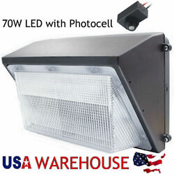 70W LED WALL PACK Commercial Lights DUSK TO DAWN Outdoor Area Security Lighting