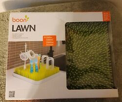 Large NEW BOON quot;LAWNquot; GREEN COUNTERTOP DRYING RACK #377 13.5quot; x 11quot; x 2.5quot; $24.99