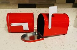 Target Bullseye Playground Mini Red Mailbox Valentines Day Canister Candy NEW $12.99