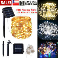 Outdoor Solar Powered100 LED String Light Garden Patio Yard Landscape Lamp Party $8.32