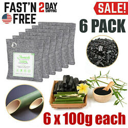 Air Purifying Bag Purifier Nature Fresh Charcoal Bamboo Mold Freshener 6 Bags $16.99