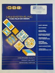 1989 MSI Mini Systems Inc. Catalog Networks MSTF Series Microwave Chips $7.49