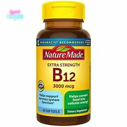 Nature Made Vitamin B12 Extra Strength 3000mcg Softgels 60ct Dietary Supplement $13.69