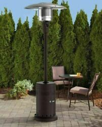 SHIPS FREE TODAY Mainstays Large Outdoor Patio Heater Powder Coat Brown Finish $189.99