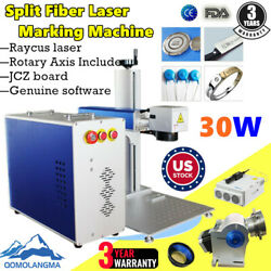 US 30W Raycus Split Fiber Laser Marking Machine Laser Engraving Machine Rotary $3988.40