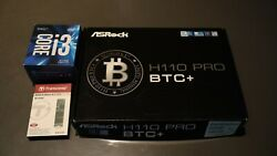 Asrock H110 Pro BTC ATX Mining Motherboard 13 GPU support Intel CPU and SSD $450.00