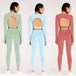 Yoga Suit Shapewear Tops Tops Legging Women Sportswear Activewear High Waisted $34.09