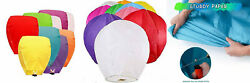 10 20 50 100pcs Paper Chinese Lanterns Assorted Colors for Wish Birthday... $24.06