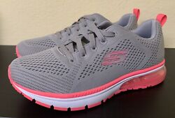 Skechers Gray Pink Athletic Sneakers Womens 6 Brand New $30.00