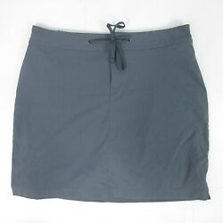 COLUMBIA Sonora Pass Active Skort Size 8 40 Shorts Skirt Length 17quot; Gray $80 NWT $19.00