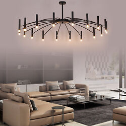 18 Lights Modern Metal Chandelier Iron Branch Pendant Lamp Ceiling LED Fixtures