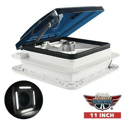 RV Trailer Roof Vent Fan 11quot; with 2 WAY Ventilation LED Light 12 Volts NEW LCW $119.99