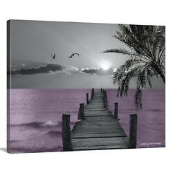 Purple Coastal 16x20 Canvas Modern Contemporary Bedroom Bathroom Wall Art $49.99
