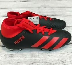 Adidas Predator 20.4 S FxG J Boys Soccer Cleats Black Red Youth Sizes $20.99