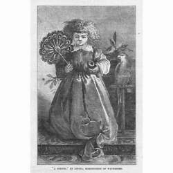 A Sketch by Louisa Marchioness of Waterford Antique Print 1871 GBP 5.95