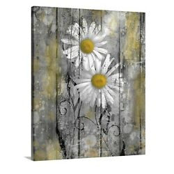 Yellow Daisy Flowers Modern Rustic Bedroom Bathroom Canvas Home Decor Wall Art $49.99